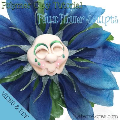 Faux Flower Sculpture Tutorial by KatersAcres