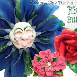 Polymer Clay Flower Tutorials Bundle Pack by KatersAcres