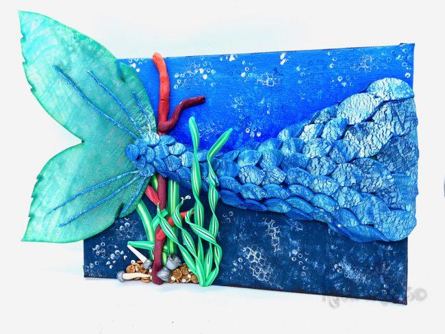 Underwater Exploration Mixed Media Bundle Mermaid Tail Siren