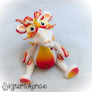 Sunset, articulated flower dragon by KatersAcres