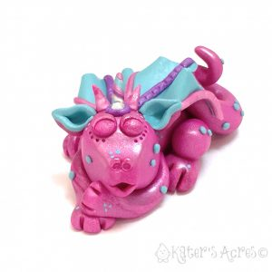 Polymer Clay Dragon, Dreamy by Kater's Acres