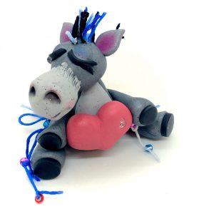 Donkey with Heart Figurine by KatersAcres