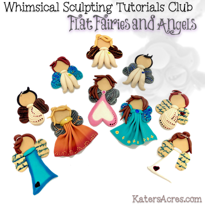 Flat Fairies Angels Polymer Clay Tutorial By Katersacres