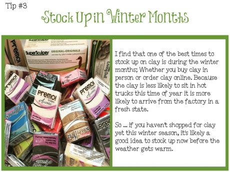 TIPS CARD - Winter Clay Shopping