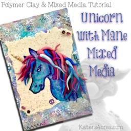 Unicorn Mane Mixed Media Tutorial by KatersAcres