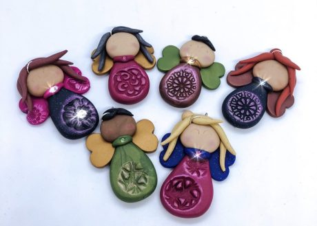 Polymer Clay Angels by Katie Oskin
