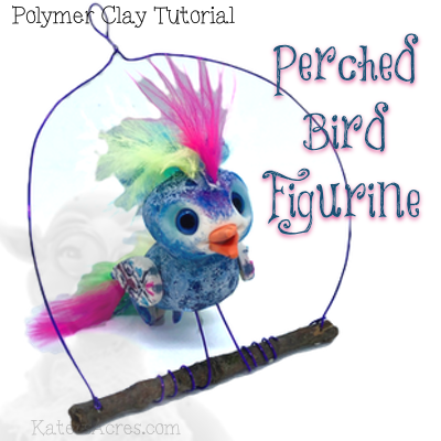Perched Bird Figurine Tutorial by KatersAcres