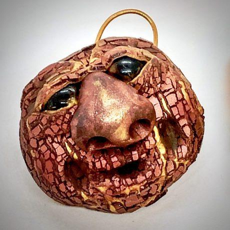 Tree Face Pendant by Katie Oskin