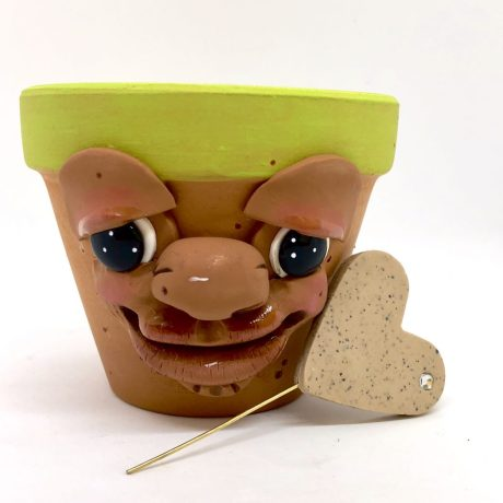 Sprouting Schrume Planter Pot by Katie Oskin