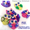 Owl Button Worksheet by KatersAcres