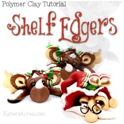 Christmas Shelf Edgers Tutorial by Katie Oskin