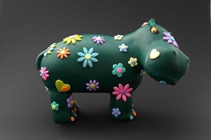 Hippo Cake Topper by Karolina Söderberg