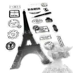 Paris Stamp Set for Polymer Clay and Mixed Media from KatersAcres