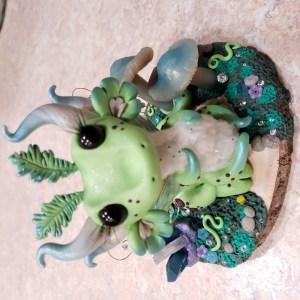 Luna Moth Inspired Dragon by Farm Girl Folly