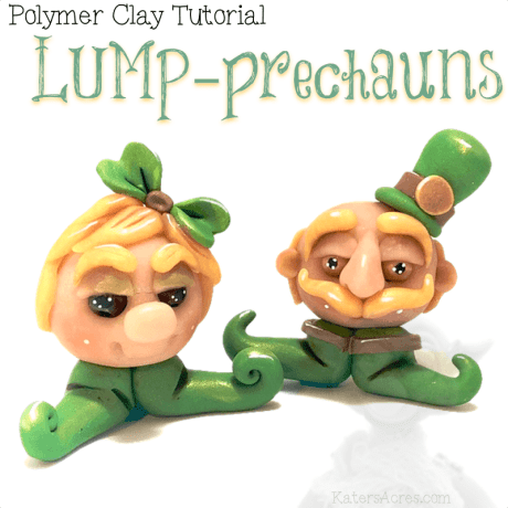 Polymer Clay LUMP-prechauns Tutorial by KatersAcres
