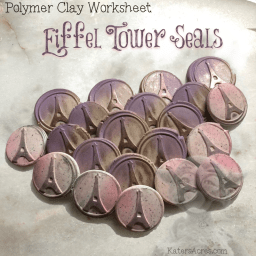 Polymer Clay Eiffel Tower Seals Worksheet by KatersAcres