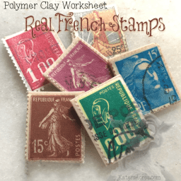 Polymer Clay French Stamps Worksheet by KatersAcres