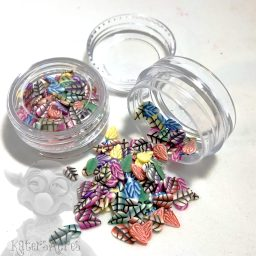 Millefiori Leaf Cane Slices - 3g Small Jar