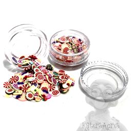 Millefiori Cane - Candy & Pieces Cane Slices - 3g Small Jar
