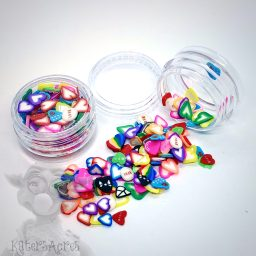 Millefiori Heart Cane Slices - 3g Small Jar