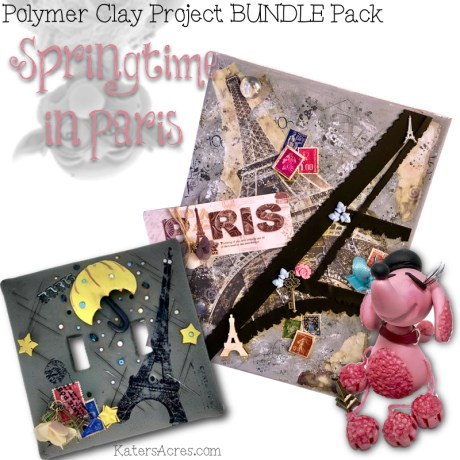 Polymer Clay Project BUNDLE Pack - Springtime in Paris