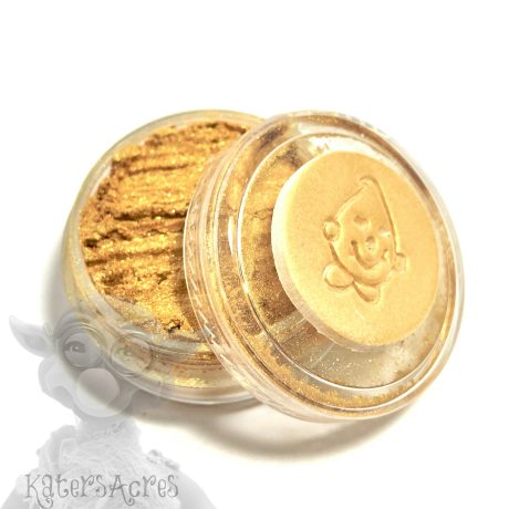 KING TUT (Bright Gold) Mica Powder for Polymer Clay from Kater's Acres