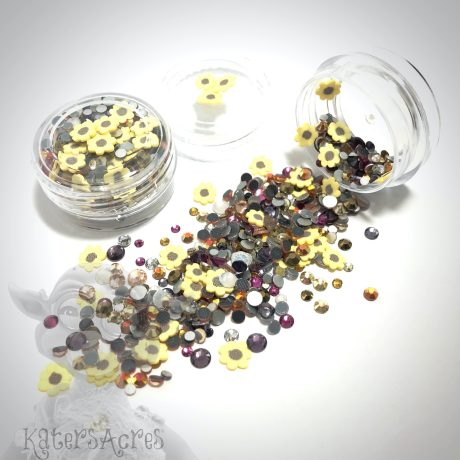 Sunflower Glass Crystals Mini Jar from Kater's Acres