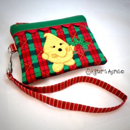 Christmas Plaid Parker Wristlet from Kater's Acres
