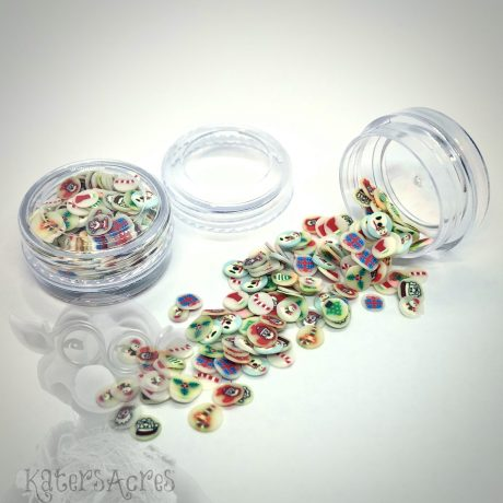 Millefiori HOLIDAY Cane Slices - 3g Small Jar from Kater's Acres