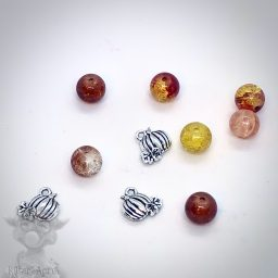Fall Pumpkin & Glass Bead Mix from Kater's Acres