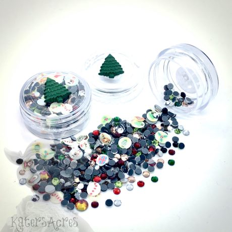Christmas Crystals & Millefiori Mini Jar from Kater's Acres