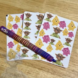 Parker, Lolly, & Spex Planner Stickers from Kater's Acres