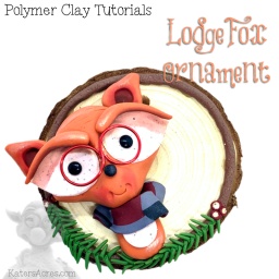 Lodge Fox Polymer Clay Ornament Tutorial by KatersAcres