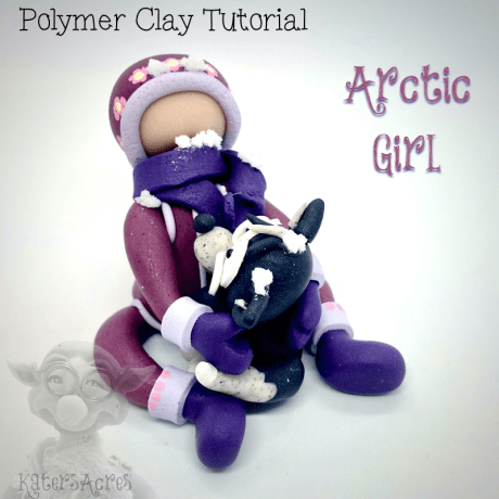 Arctic Girl Polymer Clay Tutorial by KatersAcres copy