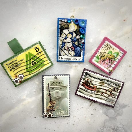 Stamp Pendants from Kater's Acres