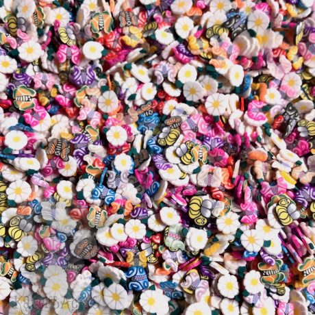 Millefiori Daisies, Butterflies, & Bees Cane Slices from KatersAcres