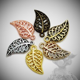 Leaf Charm Filigree from KatersAcres