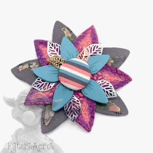 Grey Decorative Flower by Katie Oskin