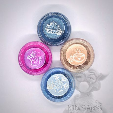 """Glitz"" Series Mica Powders Set of Four: Blizzard, Latte, Tulip, & MASKerade"