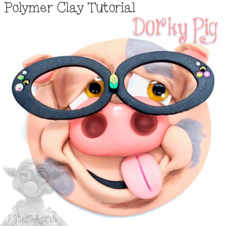 Dorky Pig Polymer Clay Tutorial by KatersAcres