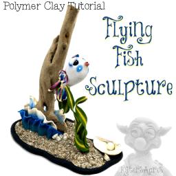 Flying Fish Sculpture Tutorial by Katie Oskin