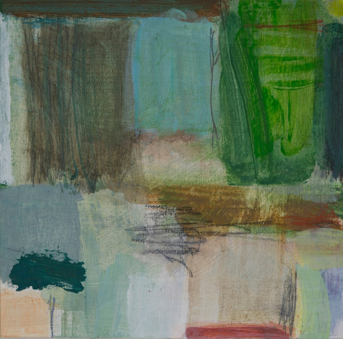 KS_14Aug18_07_B Gentle Green - acrylic and mixed media on board