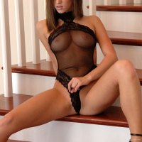 Black Mesh Teddy