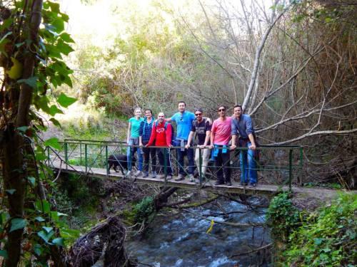 The trail between El Bosque and Benamahoma followed a riveralong the trail