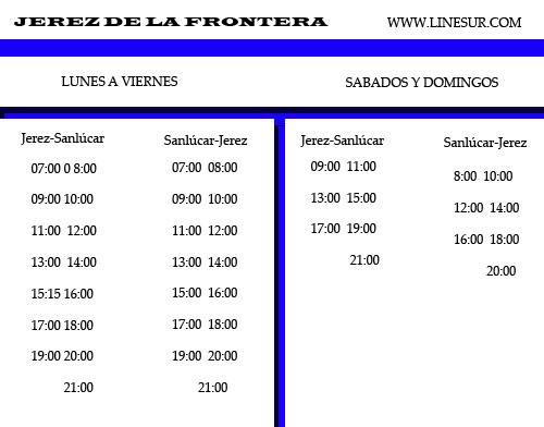 sanlucar jerez bus schedule