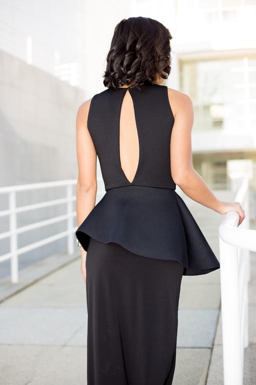 Kate Style Petite, ASOS Petite Peplum Plunge Maxi Dress