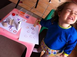 Toilet Paper Rolls Toddler Craft