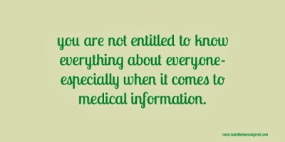 how much should you know about someone else's medical information