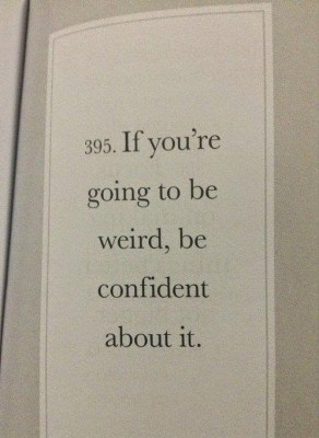 quotes about being weird
