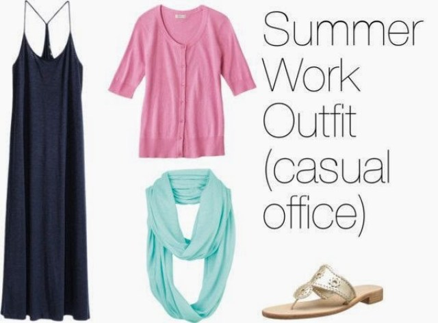 Casual summer work outfit